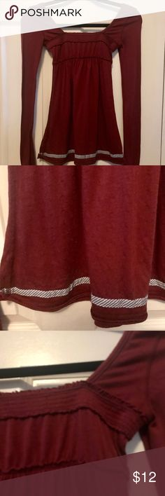 Hollister Square Neck Maroon Top Size Small Very comfortable and super cute with jeans! Good condition. Square Neck Maroon Top from Hollister. Hollister Tops