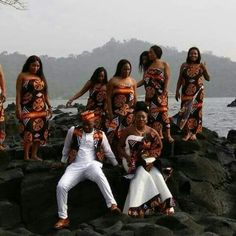 237 Traditional wear, at Limbe beach
