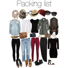 Europe packing list by elle-013 on Polyvore featuring moda, MANGO, Ali & Kris, Organic by John Patrick, LIU•JO, Fat Face, Alexander McQueen, rag & bone, STELLA McCARTNEY and French Connection