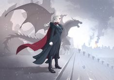 "Game of Thrones - Daenerys Targaryen ""The Mad Queen"" by Jorge Lobo Game Of Thrones Gifts, Game Of Thrones Dragons, Got Dragons, Game Of Thrones Art, Mother Of Dragons, Daenerys Targaryen Art, Game Of Throne Daenerys, Khaleesi, Queen Anime"