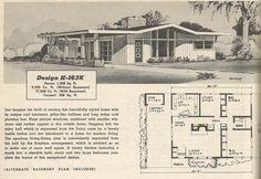 Vintage House Plans, 1950s homes, vintage houses