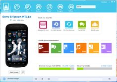 An ideal tool to manage the phone from the desktop. Featuring updated interface for Windows 8 system for sending messages via PC, content backup and options to download applications, music and images.