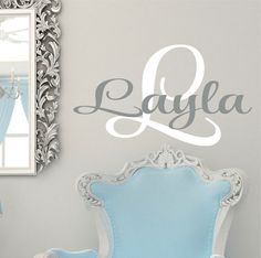 Wall Decals Nursery  Monogram  Wall decals   Name Wall by LucyLews, $18.00