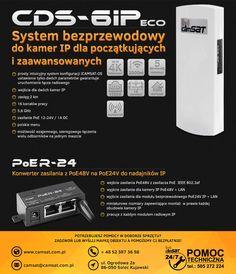 CDS-6IPeco radiowa transmisja dla kamer IP | Camsat