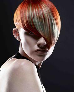 medium red straight coloured Multi-Tonal Womens hairstyles for women