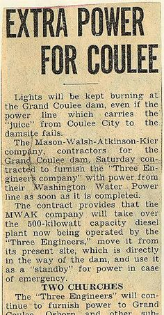 State History Grand Coulee Dam Land Appraisal Sales  Contracts