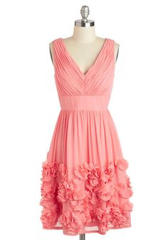 26063c6458e73 Prancing in Posies Dress - Solid, Vintage Inspired, A-line, Sleeveless,