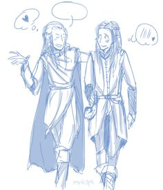 This is too too perfect. Haldir and Feren friendship fan art.