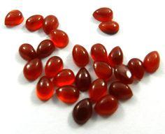 25Pc! Wholesale Lot Natural Carnelian 6x4mm Pear Fashion Jewelry Loose Gemstone #shining_gems #gemstones #jewelry