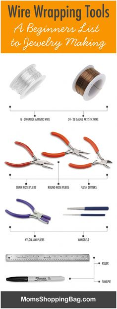 Wire Wrapping Tools – A Beginners List to Jewelry Making on MomsShoppingBag.com #wirewrapping #wirewrappingjewelry #mom