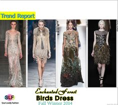 Enchanted Forest Birds Dress#Fashion Trend for Fall Winter 2014 #Fall2014 #FW2014 #Trends