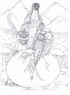Godzilla Minya Mothra larva by Godzilla, Demons, Monsters, Drawings, Art, Art Background, Demons 2, Kunst, Sketches