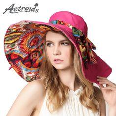 2017 Fashion Design Flower Foldable Brimmed Sun Hat Summer Hats for Women UV Protection Z-2657
