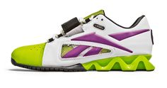 Reebok CrossFit Oly - Women's - White/Charge Green/Aubergine - Weightlifting Shoes - Shoes