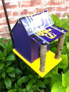 Minnesota Vikings Rustic License Plate Birdhouse by sturchr, $24.95