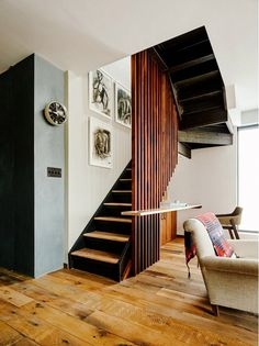 I WANT THIS STAIRCASE PLEASE! A Brooklyn Full Gut Renovation With Industrial Warmth via @domainehome