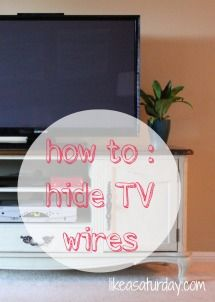 How to hide all of those pesky wires for the TV, DVD, cable box, etc.