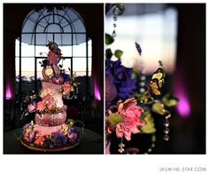 This might be the most fabulous cake--wedding or otherwise--that I've ever seen. Weddings - Jasmine Star Photography Blog