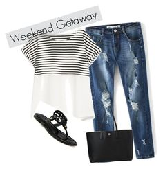 weekend getaway by gigi-alves on Polyvore featuring polyvore, fashion, style, Zara and Tory Burch