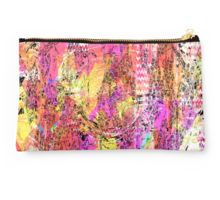 Studio Pouch Warming Up is a delightful abstract in warm colors...pink, yellow, orange...