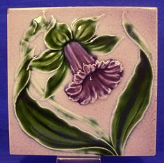 Antique majolica tile of my private collection – c.1900