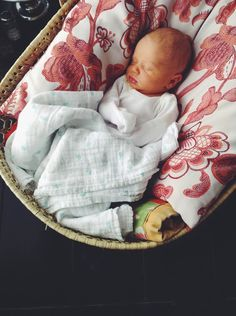My mommy kept me in a wicker bassinet all wrapped up when she first brought me home.... I can't wait to do the same with my babies ♡