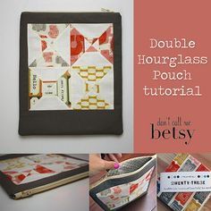 The Double Hourglass Pouch – Free Tutorial | PatternPile.com