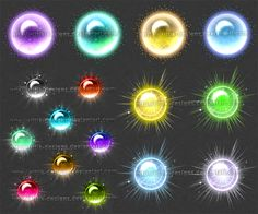 First set of different magic orbs and spheres (I'm planning to make more)! I…