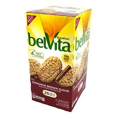 Belvita Cinnamon Brown Sugar Biscuits, 25 Count in Packs of 4 each, 44 Oz for sale online No Bake Snacks, Yummy Snacks, Belvita Breakfast Biscuits, Cookie Delivery, Natural Spice, Cereal Bars, Morning Food, Morning Coffee, Natural Flavors
