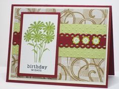 Cherry Olive Birthday Wishes by Rachelrose - Cards and Paper Crafts at Splitcoaststampers