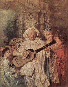 The Mezzetin's Family - Antoine Watteau - WikiArt.org