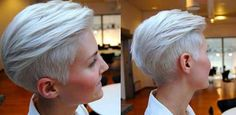 silver hair short styles - Google Search