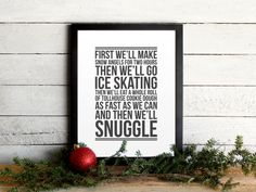 Elf Movie Quote Poster  Christmas ToDo List  by TheOystersPearl, $10.00