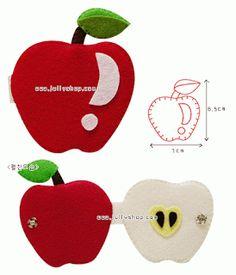 Artesanato e Cia : moldes de Frutinhas em feltro