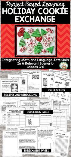 Dec 16, 2018 - Engage your students in a relevant project with this Holiday Cookie Exchange Project. Students will spend several days going through the planning of a Holiday Cookie Exchange Party. Students will use a variety of math skills for budgeting and problem solving, as well as language arts skills for wri...