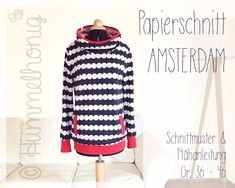 Papierschnitt Damenhoodie Amsterdam (Gr. 34-46)  