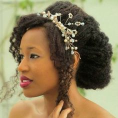 Twist out wedding hairstyle