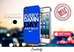 Phone Cases – every damn day nike blue iphone 4/4S/5 case cover – a unique product by Reyes-Dawn- on DaWanda