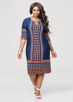 Dot Stripe Double Bar Dress