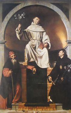 Moretto, Sant'Antonio da Padova tra i santi Antonio Abate e Nicola da Tolentino, 1530 ca