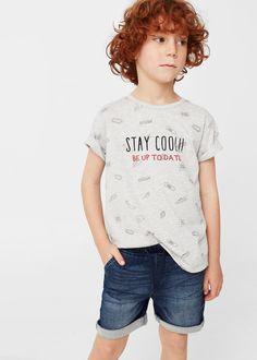 Katoenen t-shirt met print -  Kinderen   MANGO Kids België