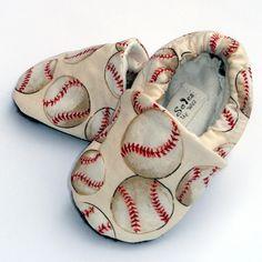 Baseball Baby Boy or Girl Shoes Little Slugger by GrowingUpWild