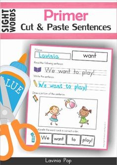 FREE Primer Sight Words No Prep Worksheets and Activities.