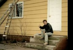 Chris McCandless painting a house during his stay with Jan Burres