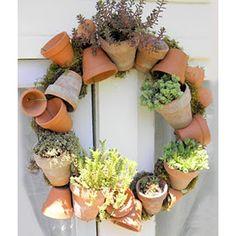 cute garden door (or any door) wreath