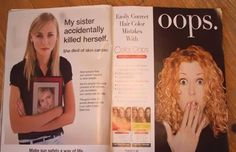 Oops is what this magazine editor said after this layout..