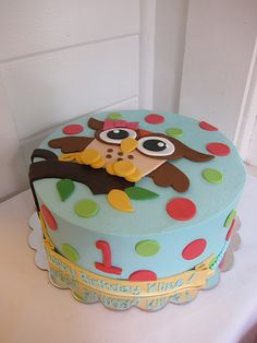Image result for owl sewing birthday cake