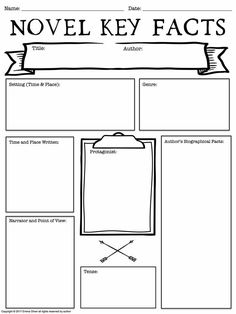 Many students are visual learners and cane benefit greatly from graphic organizers. this graphic organizer is perfect for any novel. Reading Activities, Teaching Reading, Teaching Tools, Teacher Resources, Teaching Ideas, Reading Classes, Reading Groups, Reading Workshop, Reading Skills