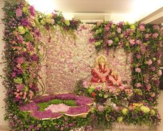 Ganpati Decoration Ideas | Ganpati Decoration Themes | Ganpati Décor | Ganesh Chaturti Décor| Ganesh Chaturthi Décor | DIY | Flowers | Indian Festivals | Ganesha | Ganpati Bappa | Gauri | Home Décor | Bollywood | Salman Khan | Arpita Khan | Celebrity | Lotus Garden | @purplevelvetpro