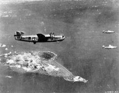 B-24's over Iwo Jima